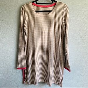 Eileen Fisher Striped Linen Cruise Tunic